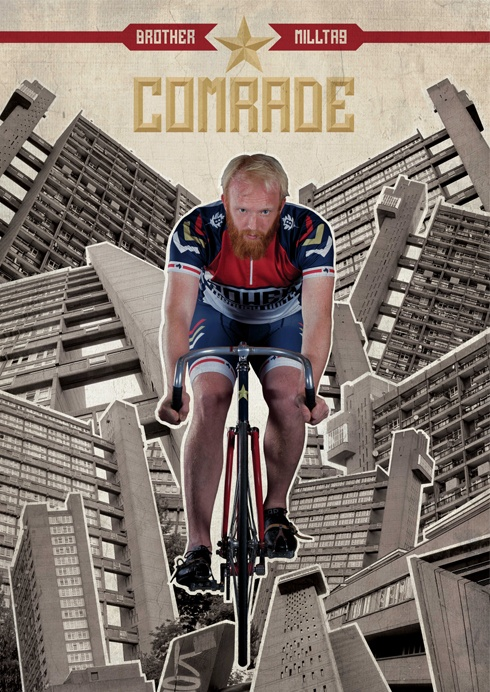 The final photoshoot poster Comrade with James Bowthorpe (Milltag x Brother Cycles)