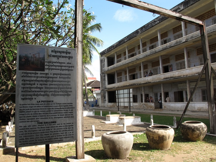 Tuol Sleng Genocide Musuem - Phnom Penh, Cambodia.    A school was converted into the infamous S21 prison where few political prisoners survived.