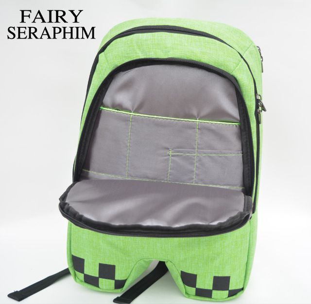 Check lastest price FAIRY SERAPHIM minecraft backpack factory directly children schoolbag boy girls canvas zip green creeper backpacks just only $17.94 with free shipping worldwide  #backpacksformen Plese click on picture to see our special price for you