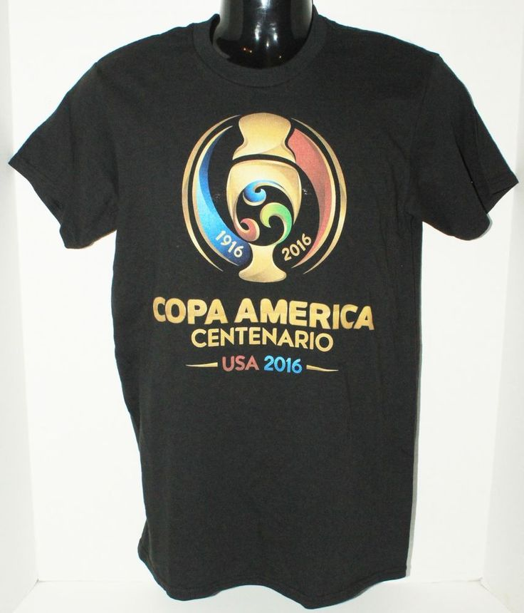 SOCCER - COPA AMERICA CENTENARIO MEN SMALL BLACK SHIRT OR FITS WOMEN USA 2016 #Unbranded #ShirtsTops