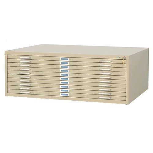 """Safco SAF4986TSR 10 Drawer Steel Flat File for 30"""" x 42"""" Documents, Tropic Sand by Safco. $1574.46. Use to keep those oversized documents, artwork, blue prints from being damaged. Features: 10 -1-1/8"""" deep drawers. Quality steel construction. Extra-strength drawer rails and heavy steel side-roller assembly with case-hardened ball-bearing rollers for smooth, quiet operation of drawers. Positive closure keeps drawers tightly shut. Courtesy stops keep drawers in place whe..."""