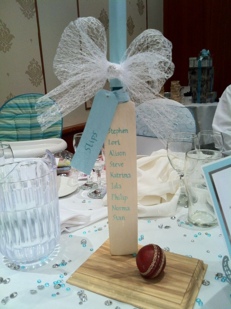 One of our centre pieces - continuing our cricket theme.