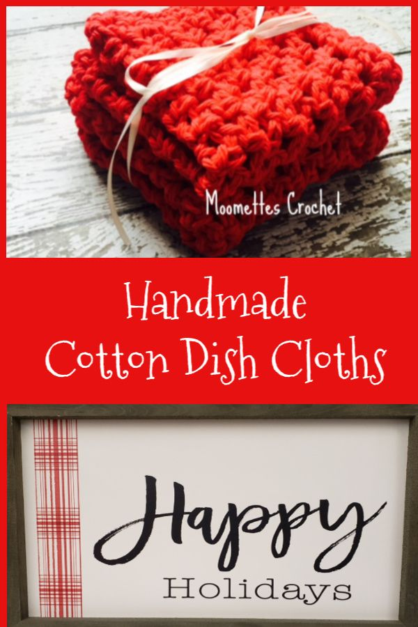 Handmade cleaning cloths