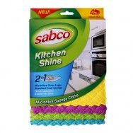 Kitchen Shine Microfibre Sponge Cloth Combines benefits of a microfibre cloth and sponge in one. #sabcoaustralia