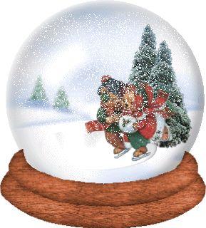 sfera con neve