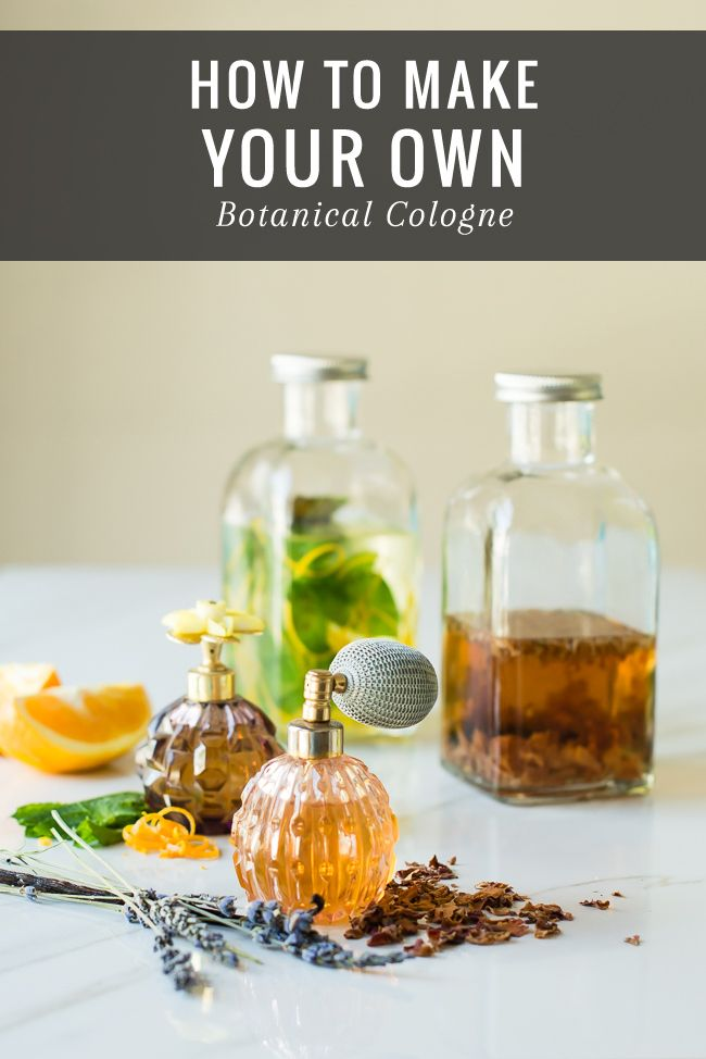 Herbs:  #Herbs ~ How to Make Your Own Botanical Cologne.