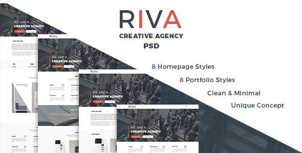 Riva | Agency and Portfolio PSD Template. Fullview: https://themeforest.net/item/riva-agency-and-portfolio-psd-template/16718479?ref=thanhdesign