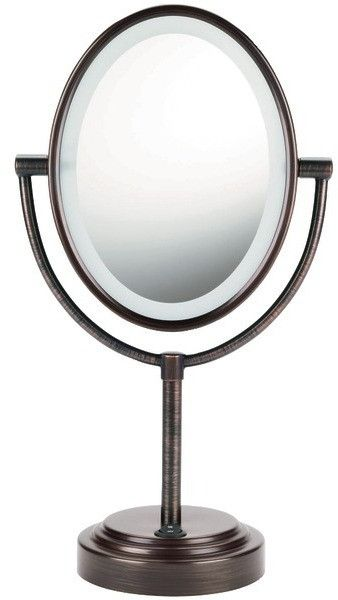 Conair - Double-Sided Lighted Mirror (Oiled Bronze)