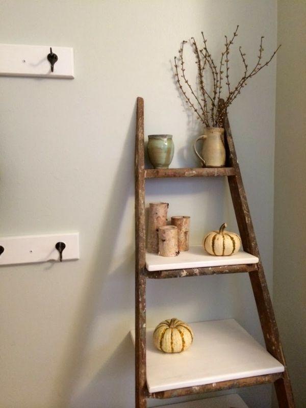 Bücherregal mit leiter selber bauen  16 besten Holzleiter, Deko, DIY, Regal... Bilder auf Pinterest