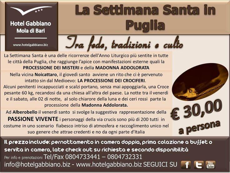 Un'ottima occasione per esplorare il territorio pugliese??? La #SettimanaSanta in #Puglia!!!