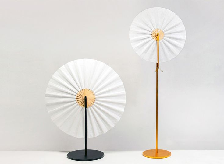 ryun fan lamp employs traditional forms in a modern assembly