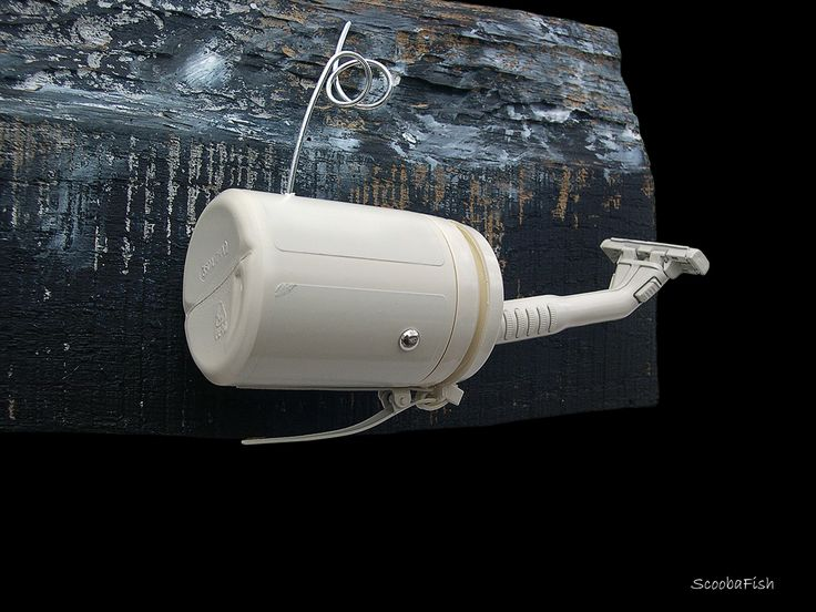 Mini Whale is a wall sculpture made out of discarded objects by ScoobaFish by Maurizio Sergiusti on Behance