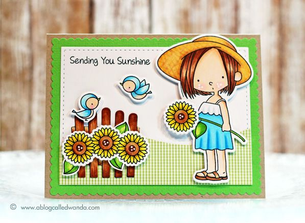 Sunflower Sweetheart MFT card by Wanda Guess