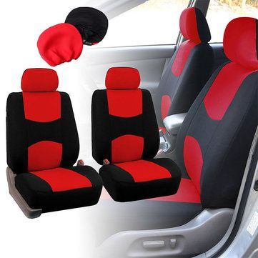 Only US$14.99, buy best Universal Fabric Car Seat Covers and Headrest Covers Kit sale online store at wholesale price.US/EU warehouse.