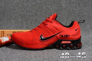 separation shoes 2e327 a4711 Nike Air Shox Flyknit October Red Black Mens Footwear