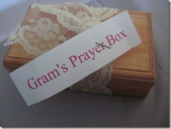 Create a prayer box - this is a great idea