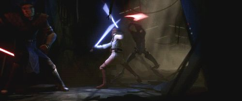 "Obi-Wan Kenobi vs. Darth Maul and Savage Opress, pt.2 The Clone Wars Season 5, Episode 1 ""Revival"""