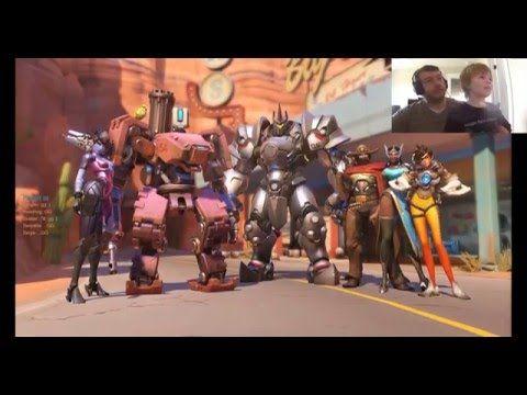 Overwatch Beta Part 1 - Tutorial, Bastion and Reinhardt Gameplay - YouTube