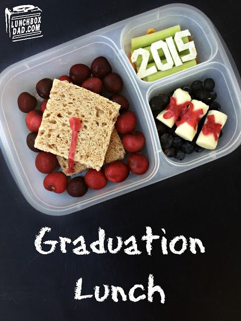 Lunchbox Dad: Graduation 2015 Lunch || packed in an @EasyLunchboxes container