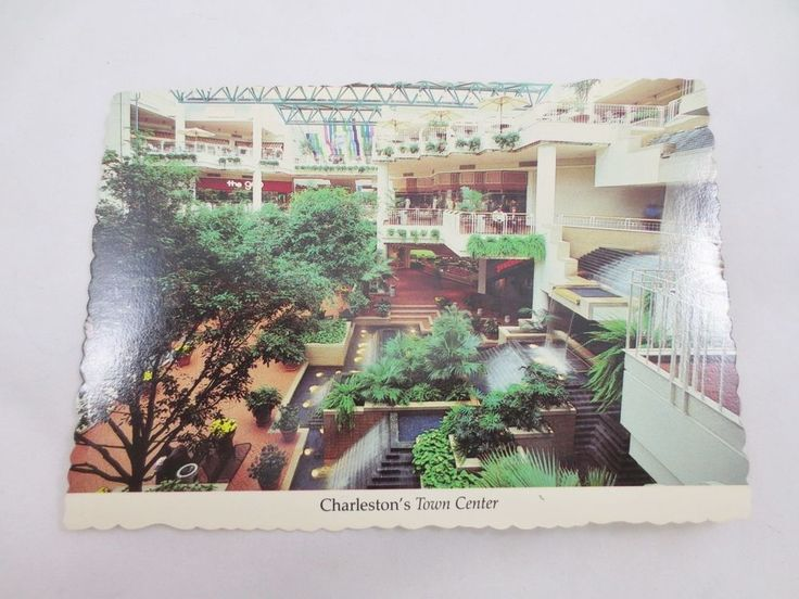 Vintage Uncirculated New Old Stock POST CARD CHARLESTON TOWN CENTER MALL WV USA