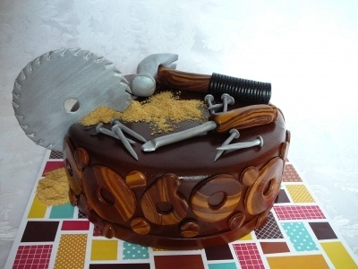 Woodwork By patisseriejaja on CakeCentral.com