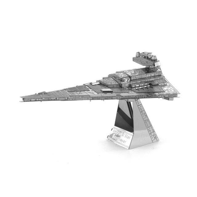 Free Shipping 2016 Hot Sale puzzle toys Star Wars Model Building 3D Scale Models DIY Metallic Nano Puzzle Toys millennium falcon