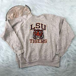 Vtg Champion LSU Tigers Louisiana State University Gray Crewneck Sweatshirt XL  | eBay