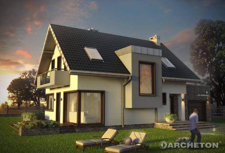 Projekt domu Margo Kubik - wygląda pięknie nie tylko przy zachodzie słońca:)