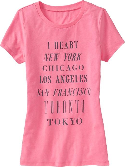 Old Navy | Women's Love-Theme Graphic Tees. Got it.