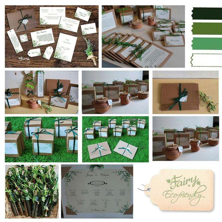 Progettazione Matrimonio con tema Erbe Aromatiche dalle partecipazioni alle bomboniere
