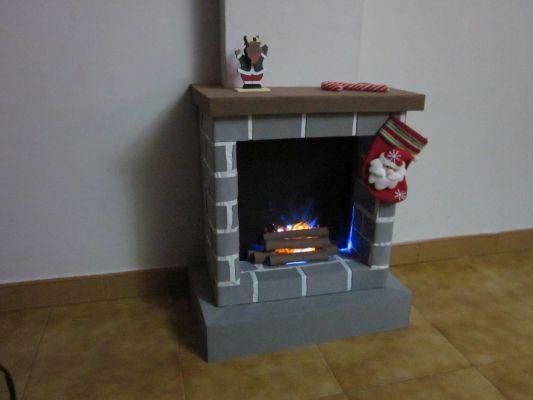 ideas para hacer una chimenea de cartn para navidad
