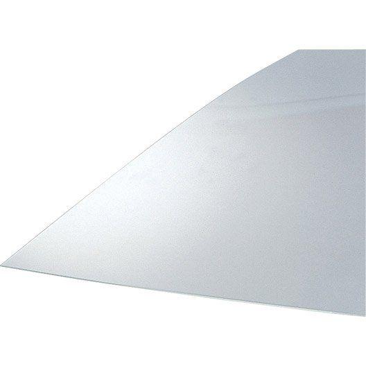 Plaque de verre synthétique polystyrène, 100x100cm, ép. 2.50mm