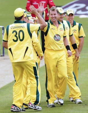 Brett Lee <3 he is in prime form, fast as ever. And he is 35!!