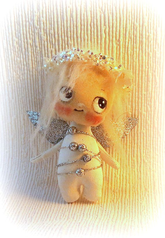 Tiny angel Fairy cloth doll by suziehayward on Etsy, $58.00