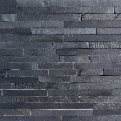 Black Slate Split Face Mosaic Tiles Medium Home