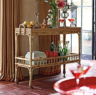 Sunroom:  Serena & Lilly Bar Cart