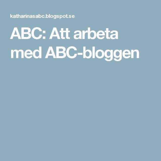 ABC: Att arbeta med ABC-bloggen