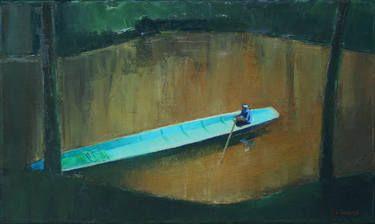 "Saatchi Art Artist Agnieszka Kozień; Painting, ""In the monsoon time nr 1"" #art"
