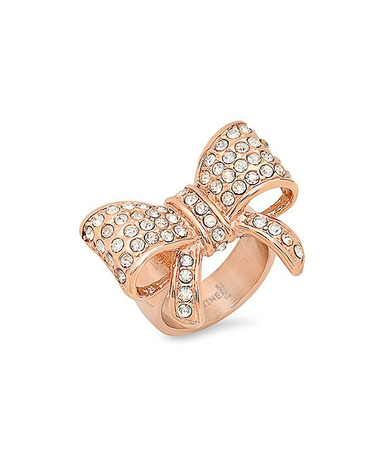 Diamond & Rose Gold Bow Ring