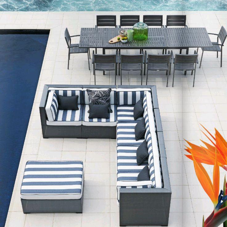Our Columbis black cushion features on Domayne Australia Summer catalogue #lovekas