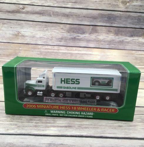 2006 Hess Mini Miniature Hess Toy Truck 18 Wheeler & Racer Advertising
