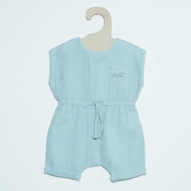 Barboteuse en coton Bébé fille - Kiabi - 12,00€