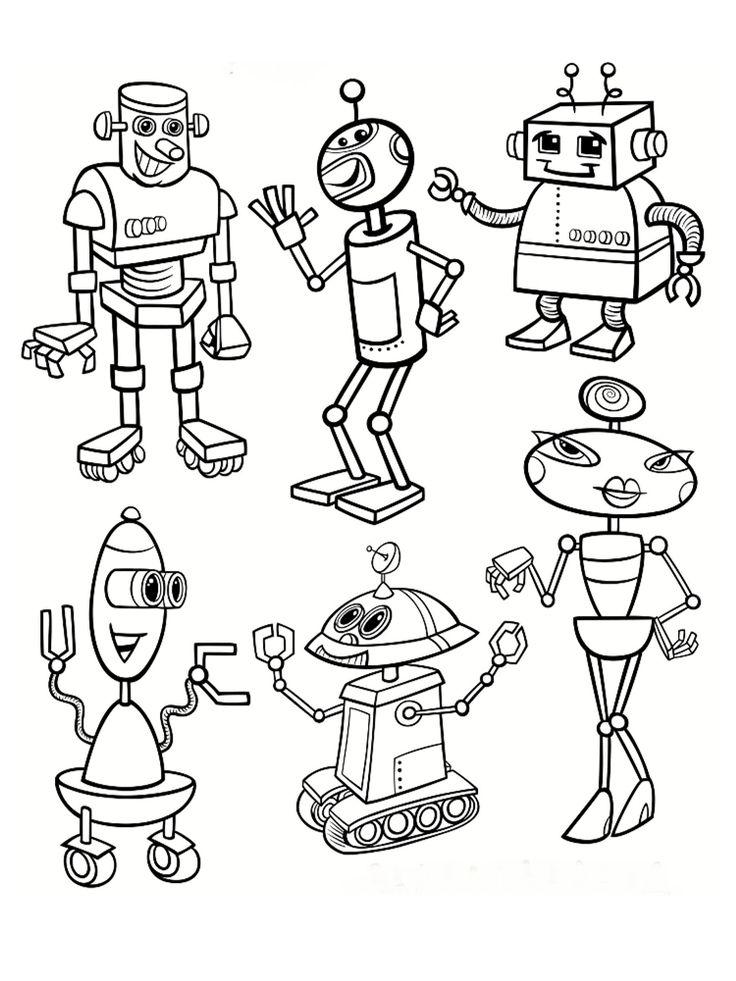Coloriage robot : 30 dessins à imprimer gratuitement ! | Coloriage robot, Coloriage et Coloriage ...
