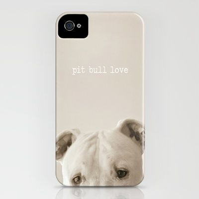 Pit bull love  iPhone Case by Laura Ruth  - $35.00