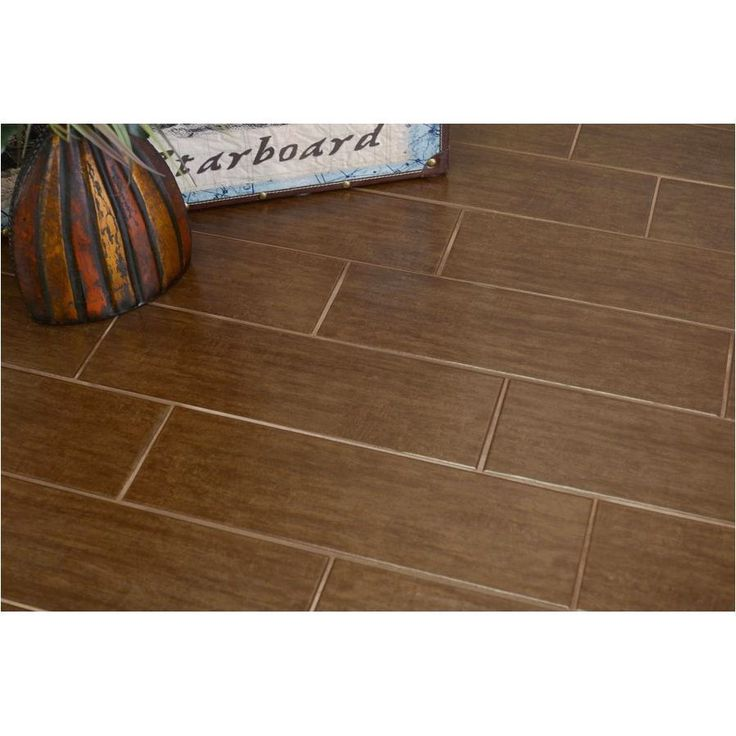 Shop Interceramic Colonial Wood Walnut Ceramic Floor Tile