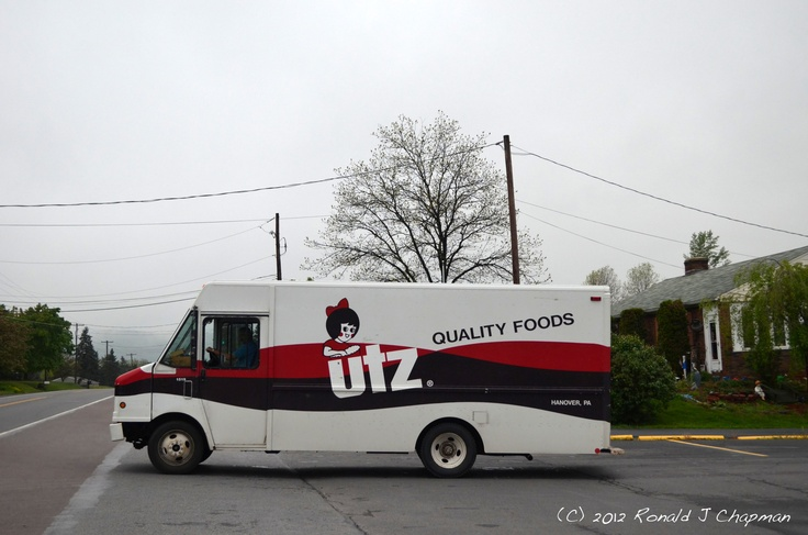 This is the UTZ Quality foods truck. You usee lots of these trucks in Pa. —