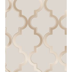 Tempaper Bronze Grey Repositionable Vinyl Self-Adhesive Classic Wallpaper