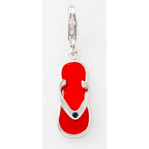 Red Jandal Sterling Silver Charm By ZALA | Shop New Zealand