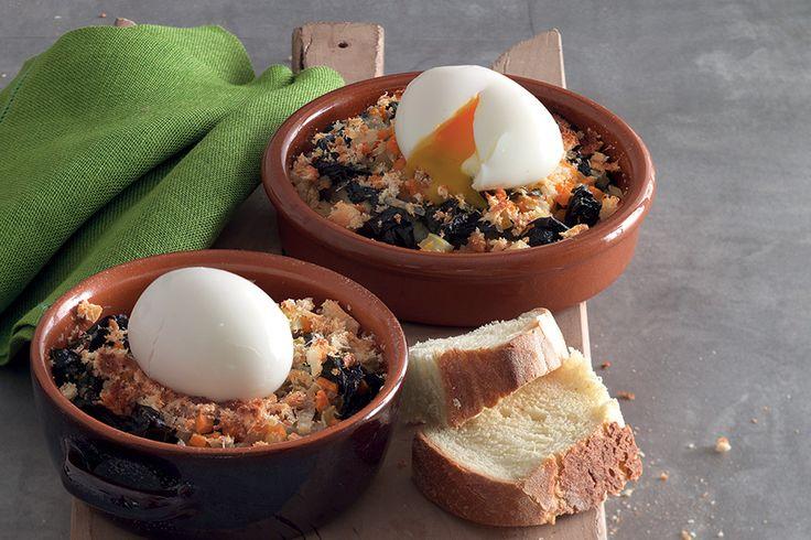 Ricetta Uovo morbido su zuppa gratinata al cavolo nero - La Cucina Italiana: ricette, news, chef, storie in cucina