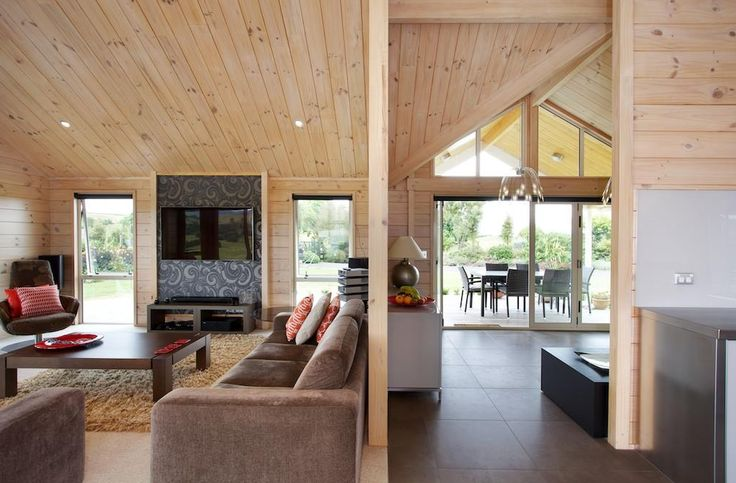 The home is spacious with and open plan design, but also has sectioned off rooms.